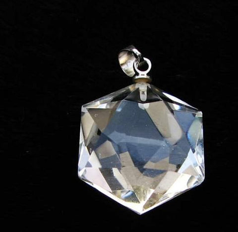 Crystal Pendant - Faceted Hexagon Super Clear | Wholesale Healing Crystals