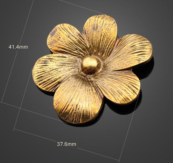 Large Gold Tone Pendants - Flower | Quality Wholesale Charms from China - 1PROY Driftwood & Healing Stones