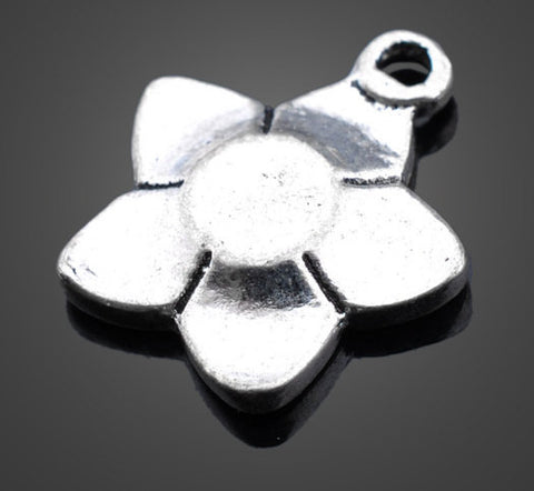 Vintage Silver Flower Charms - Small | Wholesale Pendants Supplies - 1PROY Driftwood & Healing Stones