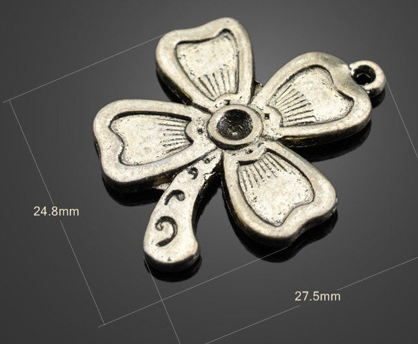Wholesale Brass Pendants Clover Charms | Vintage Jewelry DIY Supplies - 1PROY Driftwood & Healing Stones