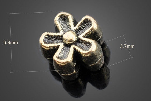 Vintage Brass Beads Flower Wholesale Lot | Jewelry DIY Supplies - 1PROY Driftwood & Healing Stones