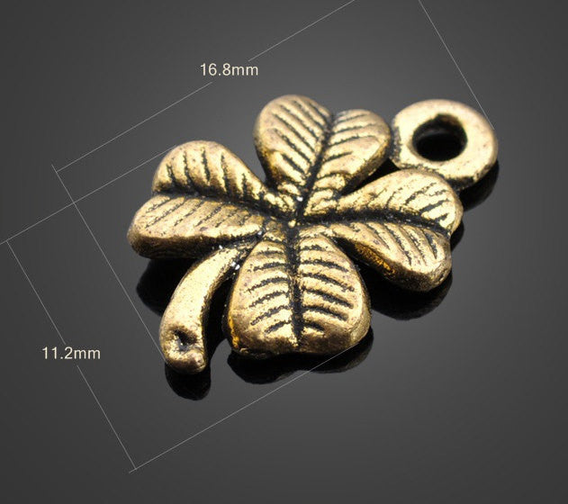 Vintage Brass Charms - Clover | Wholesale Pendants Supplies