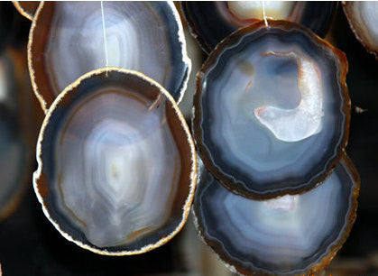 Drusy Agate Geode Slice | Wholesale Giant Healing Stones Craft Supplies - 1PROY Driftwood & Healing Stones