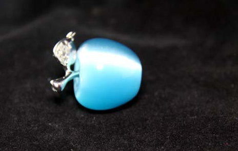 Sapphire Cat's Eye Apple Home Decor | Healing Stones Accessories
