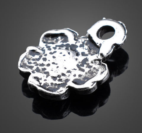 Silver Flower Charms - Vintage | Wholesale Pendants Supplies
