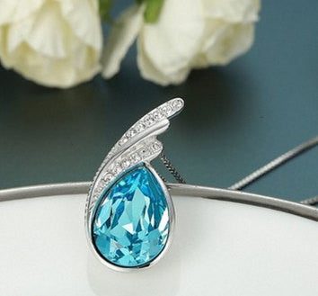 Blue Zircon Pendant Drop Sapphire | Wholesale Charms Supplies - 1PROY Driftwood & Healing Stones