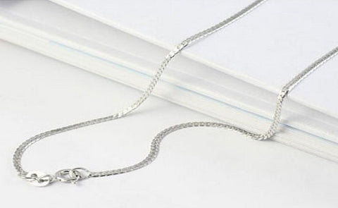 "45cm Sterling Silver Snake Chain 18"" Fine to Medium Gauge Wholesale - 1PROY Driftwood & Healing Stones"