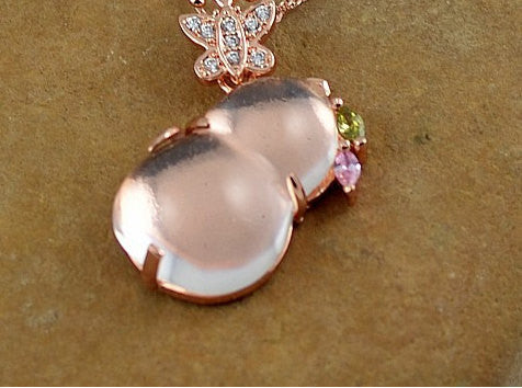 Rose Crystal Pendant Rose Gold  | Wholesale Healing Crystal