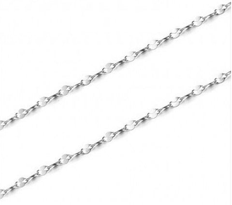 "45cm 18"" Sterling Silver Bar Chain Fine 