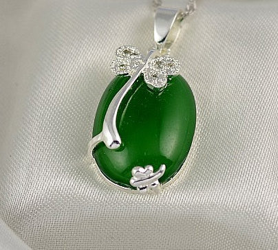 Green Agate Pendant Large Cabochon | Wholesale Healing Stones DIY