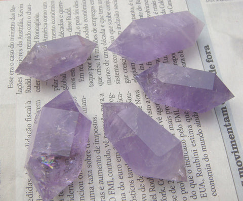 Amethyst Point Chunky Double Terminated | Healing Quartz Meditation - 1PROY Driftwood & Healing Stones