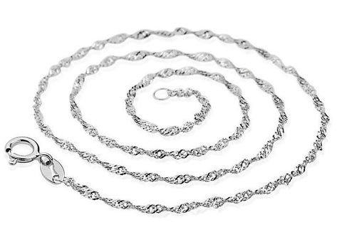 "18"" Silver Plated Rope Chain 3pcs Lot 45cm 