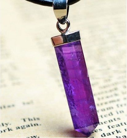 Amethyst Point Pendant | DIY Healing Crystal and Stones Wholesale - 1PROY Driftwood & Healing Stones