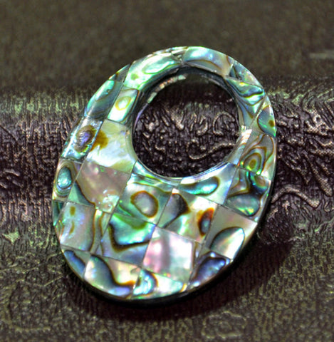 Mother of Pearl Shell Pendant Rainbow Oval | Wholesale Jewelry DIY