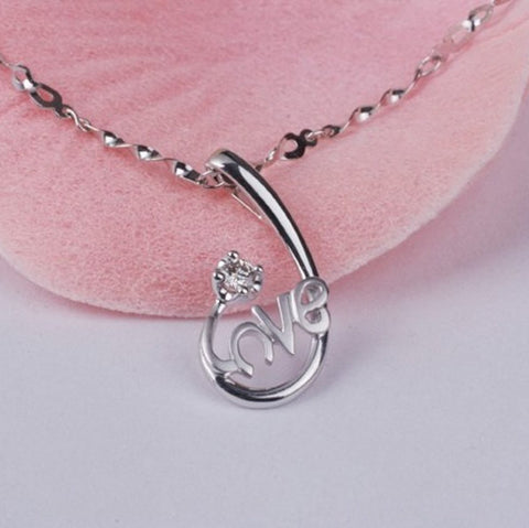 LOVE Silver Pendant Valentines | Genuine Silver Charms Wholesale