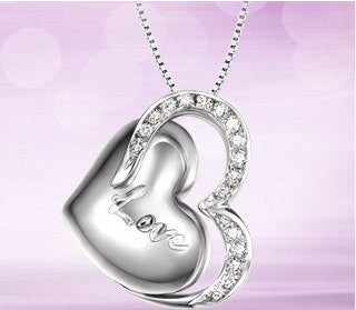 Silver Pendant Valentines LOVE Hearts | Wholesale Charms Jewelry DIY