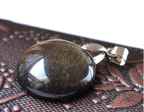 Tumbled Obsidian Pendant Small Oval | Healing Crystal and Stones