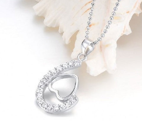 Silver Pendant Valentines Love Heart | Wholesale Sterling Charms