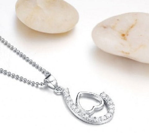 Silver Pendant Valentines Love Heart | Wholesale Sterling Charms - 1PROY Driftwood & Healing Stones