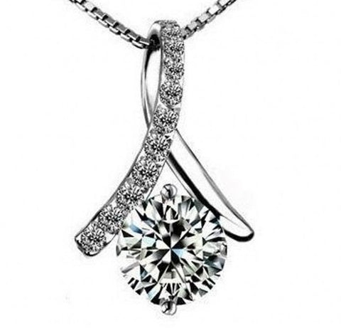 Sterling Silver Charm Zircon Bead | Wholesale Valentines Pendants DIY