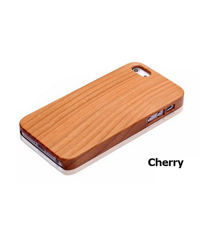 Handcrafted Cherry Wood Phone Case For iPhone 5 5s 4 4s - 1PROY Driftwood & Healing Stones