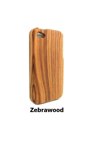 Zebra Wood Phone Case for iPhone 5 5s 4 4S | Handcrafted Mobile Accessories - 1PROY Driftwood & Healing Stones
