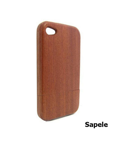Handcrafted Sapele Wood iPhone 5 5S 4 4S Case | Mobile Accessories Collection - 1PROY Driftwood & Healing Stones