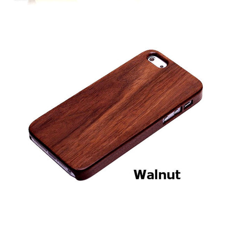 Walnut Phone Case | Handcrafted Wood Cases for iPhone 5 5s 4 4s - 1PROY Driftwood & Healing Stones