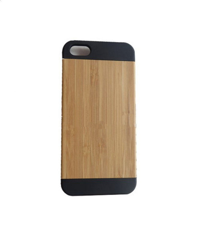 Bamboo Iphone 5 5S case, natural wood mobile accessories - 1PROY Driftwood & Healing Stones