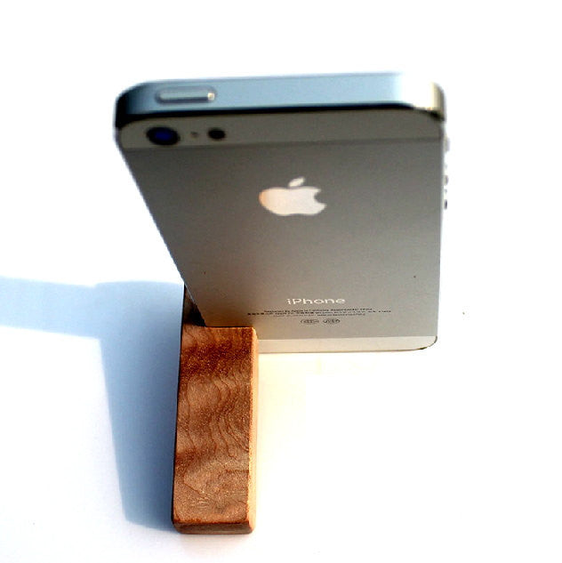 Wood iPhone 5 5S Stand | Cheap Handcrafted iPhone Accessories