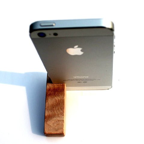 Wood iPhone 5 5S Stand | Cheap Handcrafted iPhone Accessories $8.90