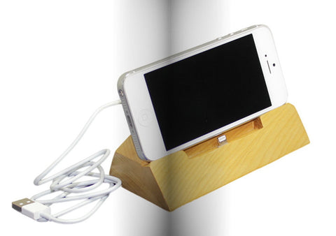 Wood iPad Stand | Docking Station | Handcrafted iPad Accessories - 1PROY Driftwood & Healing Stones