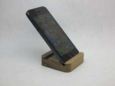 Smiley wood smart phone stand for iPhone 5 5S 4S 4 Samsung etc. - 1PROY Driftwood & Healing Stones