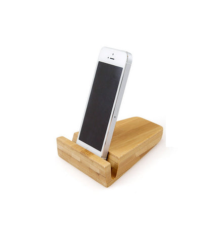 Handcrafted Bamboo Phone Stand | Docking Station for iPad Samsung, iPhone etc.