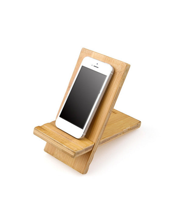 Bamboo iPhone Stand | Wood Tablet Docking Stations | iPad Samsung etc. - 1PROY Driftwood & Healing Stones