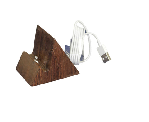 Handcrafted Sandal iPhone 5 5S Stand | Wood iPad Docking Station