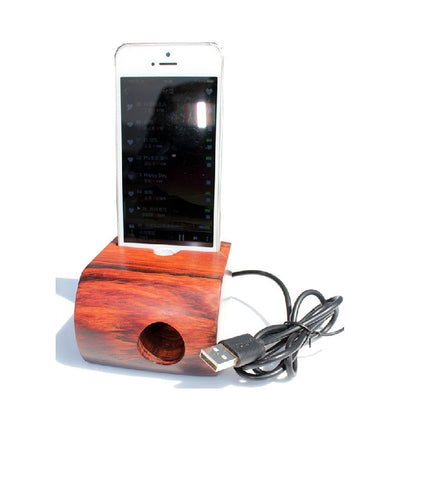 Acoustic Amps & iPhone Charging Station for iPhone 5S 5 | 4S 4 - 1PROY Driftwood & Healing Stones
