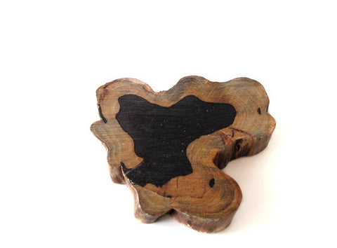 Set of 2 sandalwood coasters, extra thick rustic wood coasters, houseware kitchenware creations