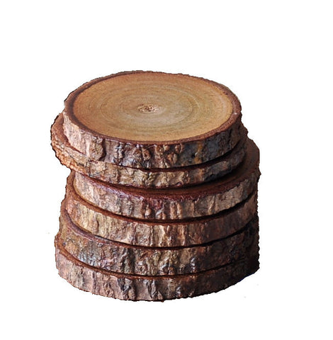Set of 4 Wood coasters, rustic teakwood coasters, houseware kitchen decor creations