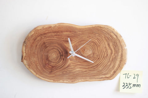 Rustic wood log wall clock | unique minimalist home decor gift ideas - 1PROY Driftwood & Healing Stones