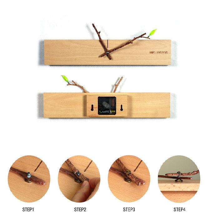 Unique Minimalist Wood Wall Clock | Modern Home Decor Gift Ideas   1PROY  Driftwood U0026 Healing