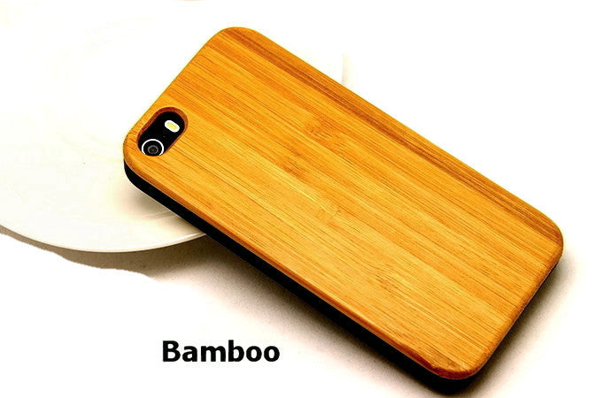Bamboo Phone Case for iPhone 5 5S | Handcrafted Mobile Accessories - 1PROY Driftwood & Healing Stones