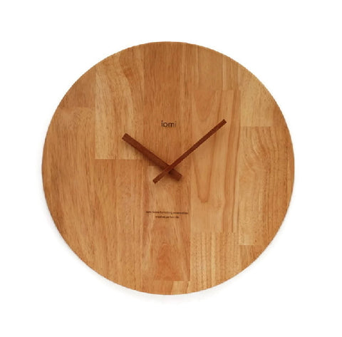 Oak Wall Clock - Large Minimalist | Wood Decor Housewares Accessories - 1PROY Driftwood & Healing Stones