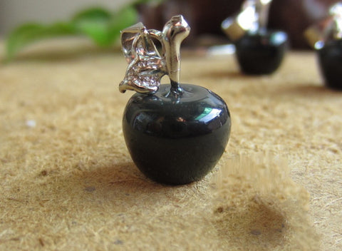 3pcs Obsidian Apple Pendant Lot- Small | Healing Crystal and Stones Charms - 1PROY Driftwood & Healing Stones