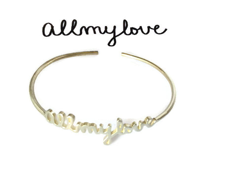 Personalized Signature Cuffs | Custom Silver or Gold Name Bangles
