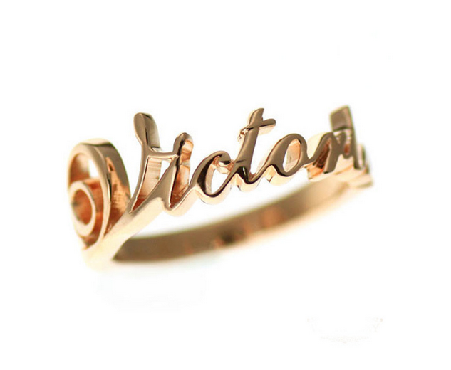 Signature Ring - Silver or 18k Gold | Unique Personalized Name Rings - 1PROY Driftwood & Healing Stones