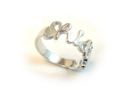 Signature Ring - Silver or 18k Gold | Unique Personalized Name Rings
