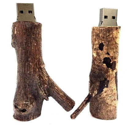 Handcrafted Wood USB 8GB 16GB 32GB Flash Drives | Thumb Drives - 1PROY Driftwood & Healing Stones