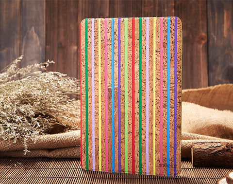 Cork iPad Air Case | Slip Cover | Handcrafted Wood Mobile Accessories - 1PROY Driftwood & Healing Stones
