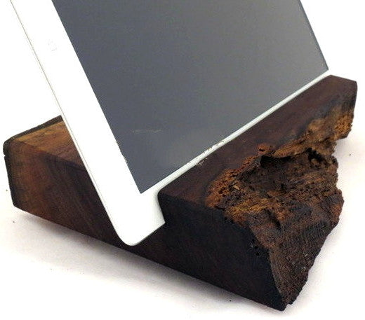 Wood Log iPad Stand | Driftwood Tablet | Cell Phone Docking Stations - 1PROY Driftwood & Healing Stones
